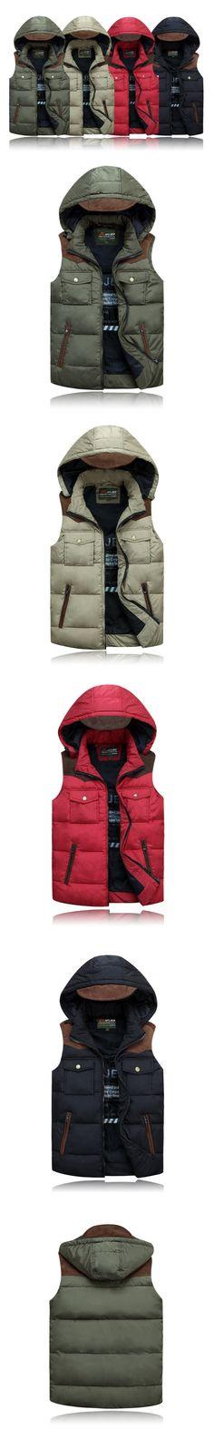 9b7e54c1a 69.56 |Nuevos hombres de la llegada caliente del invierno abajo chaleco de  hombre Outwear abajo concede la chaqueta de invierno gruesa capa sin mangas  ...