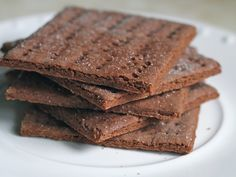 """Gluten-Free Chocolate Graham Crackers """"(Tried these today for Lucy, and she loved them. Bake a little longer than the 15 mins AND add a splash of vanilla. KN)"""""""