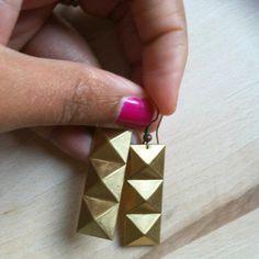 Boucles d'oreilles géomètriques par LaetiGrena sur Etsy, €12.00