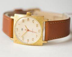Retro watch gold plated men's watch Dawn unisex watch by SovietEra