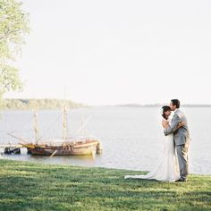 A moment alone during their destination waterfront wedding // Vicki Grafton Photography