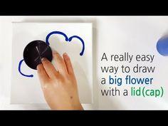 (130) A really easy way to draw a big flower _ No silicone _ Designer Gemma77 - YouTube