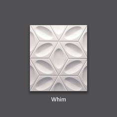 Contemporary aesthetics. Whim 3D Wall Tile by #TexturalDesigns #SculpturalTile #3DTile #Wallcoverings