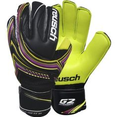 Reusch Toruk G2 Ortho-Tec Gloves with Lime Palm, 10 by Reusch. $128.69. G2 ultra soft foam latex. Removable Ortho Tec finger spines for hyperextension prevention. Thumbflex notch. Shockshield full SG foam backhand. ProFlex zone in backhand. Advanced Duraguard zones for a durable palm. CLOSURE: Elastic wrist bandage with full strap. BEST FOR: Match play.