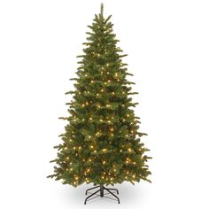 7.5' Green Fir Artificial Christmas Tree with 450 Incandescent Colored and Clear Lights