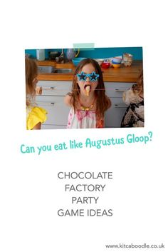 Augustus Gloop Doughnut Game | Chocolate Factory Party Kit | Awesome Party Activities | Charlie and the Chocolate Factory Party Inspiration | Kit & Caboodle Parties