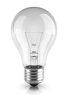 Another light bulb, but this one from a slightly different angle with more reflection in it.