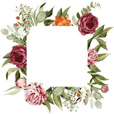 Flower Backgrounds, Wallpaper Backgrounds, Print Wallpaper, Art Floral, Flower Frame, Flower Art, Scrapbook Background, Frame Background, Flower Phone Wallpaper