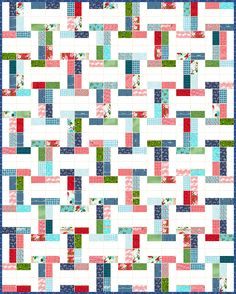 Lets Quilt Something: Interlock - Free Quilt Pattern - Jelly Roll