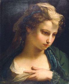 Gandolfi Gaetano   (S.Matteo della Decima 1734-Bologna 1802)  Ritratto di giovane donna  1767, circa