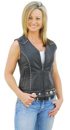 439208bd14 Ladies Fashion Leather Vest | Tour women vest | vests, vests and ...
