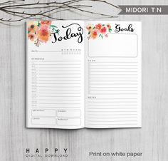 Printable Daily Planner Inserts Midori Daily Planner Inserts