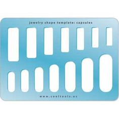 Jewelry Shape Template - Capsules