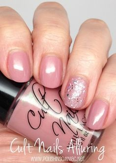 Cult Nails Alluring (with Nicole by OPI Shaved Nice)