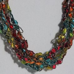 Kaleidoscope  Hand Crocheted Necklace by CrimsonCactus on Etsy, $8.00
