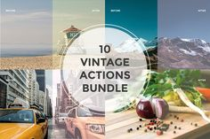 10 Vintage Actions Bundle by Maroon Baboon on @creativemarket