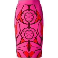 Alexander McQueen Flower Collage Jacquard Skirt