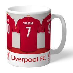 One of our best-selling Liverpool FC gifts of all time, this personalised dressing room mug is the ultimate must-have for any Liverpool FC fan. Fully licensed and approved by Liverpool FC themselves, you can be assured of quality and authenticity. Liverpool Fc Gifts, Liverpool Fans, Personalized Football, Personalized Gifts, You'll Never Walk Alone, Gifts For Sports Fans, Disney Mugs, Outdoor Gifts, Dressing Room