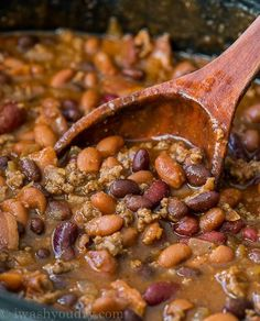 These Slow Cooker Steakhouse Cowboy Baked Beans are a thick and hearty side dish with a punch of savory and sweet spices! Cowboy Baked Beans, Cowboy Beans, Cowboy Steak, Side Dishes Easy, Main Dishes, Tasty Dishes, Slow Cooker Recipes, Crockpot Recipes, Delicious Recipes
