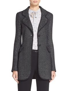 Diamante Knit Blazer | St. John Knits