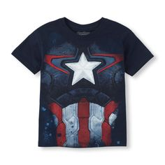 The Childrens Place - He'll look as strong as a soldier in this Captain America tee!