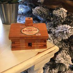Log Cabin Burner with Balsam Fir Incense