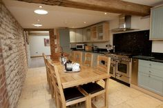The Hay Barn features a huge farm house kitchen.  The prefect place to catch up with family and friends each morning, or late into the night...