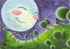 """""""Moon and Cat"""" ©Roberta della Porta Illustrations"""