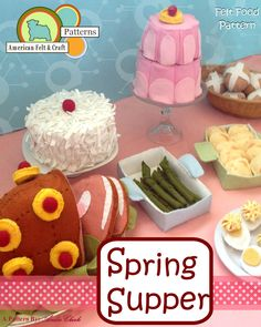 Spring Supper - Felt Food PDF Pattern - American Felt & Craft