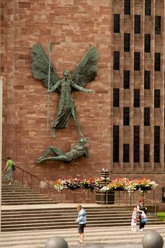 St Michael and the Devil. Spectacular Epstein work adorning the wall of Coventry cathedral. Coventry Cathedral, England And Scotland, St Michael, Event Photography, British Isles, Love Is All, Lancaster, Great Britain, Cambridge