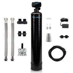 PRO+AQUA Whole House Well Water Filtration System Filters Iron Sulfur Arsenic Manganese and More 1 in. Digital Valve 1 cu. ft.-PRO-WELL-1E - The Home Depot Well Water System, Water Well, Water Systems, Iron Filter, Home Water Filtration, Whole House Water Filter, Single Bowl Kitchen Sink, Electronic Recycling, Water Treatment