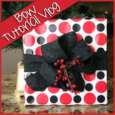 Easy to follow instructions on short video so you can tie those perfect big Christmas bows!
