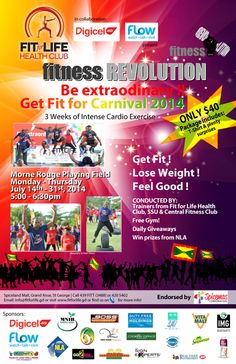Fit for Life FITNESS REVOLUTION 2014 July 14th - July 31st   #partygrenada