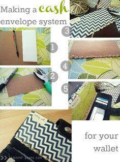 making a cash envelope system for your wallet http://www.beginnerbeans.com/2012/09/diy-envelopes-and-custom-cash-envelope.html