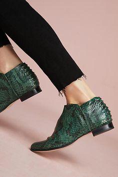 Pyramides Green Snake Print Boots