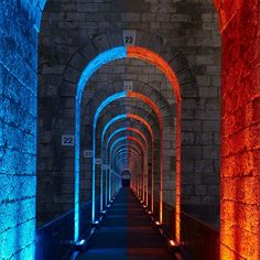 The viaduct of Chaumont | Rome | Tunnel Lighting | RGB Lighting