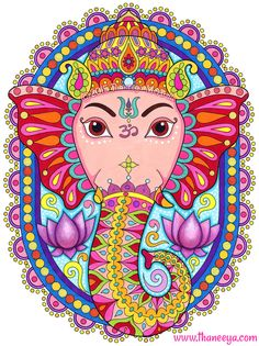 Ganesha coloring page from Thaneeya McArdle's Follow Your Bliss Coloring Book http://www.amazon.com/gp/product/1574219960/ref=as_li_tl?ie=UTF8&camp=1789&creative=390957&creativeASIN=1574219960&linkCode=as2&tag=arisfu-20&linkId=YJ3HSSGKJW25C3F4