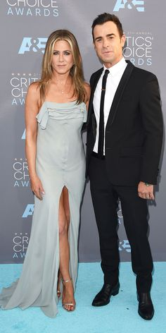 2016 Critics' Choice Awards: See the Unforgettable Red Carpet Looks! - Jennifer Aniston and Justin Theroux  - from InStyle.com