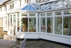 This beautiful conservatory in Cheshire features Pilkington Activ™ Blue allowing it benefit from both Self-cleaning and Solar-control properties Conservatories, Sunrooms, Benefit, Solar, Cleaning, Windows, Outdoor Decor, Blue, Beautiful