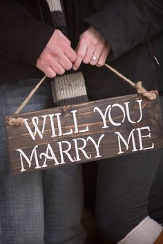 Will You Marry Me Reclaimed Wood Sign by StyleByTheSea on Etsy, $25.00