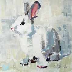 """""""Flopsy"""" impressionistic oil painting by artist Gina Brown www.GinaBrownArt.com"""