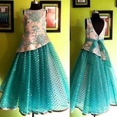 #MOHHO by A&N #galsFLAUNTinGOWN #galsWEAR #kidsWEAR Kids Party Wear Dresses, Party Wear Indian Dresses, Indian Gowns Dresses, Dresses Kids Girl, Baby Frock Pattern, Frock Patterns, Kids Dress Patterns, Baby Frocks Designs, Kids Frocks Design