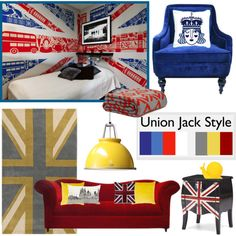 Union Jack Style by pixers on Polyvore #unionjack #blue #red #yellow