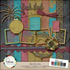 Refresh mini kit from Aimee Harrison Design Studios #digiscrap #scrapbooking #digifree #scrap #freebie #scrapbook
