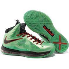 http://www.asneakers4u.com/ Cheap Lebron 10 Green Red Black