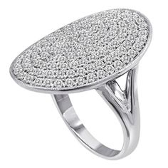 Pave Oval shaped Diamond Ring (1.80cts)