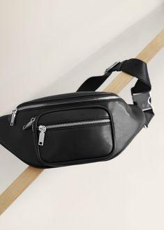 Belt bag trend came in Fashion Mode, Fashion Bags, Fashion Accessories, Fashion Outfits, Black Handbags, Leather Handbags, Leather Bag, Waist Purse, Bum Bag
