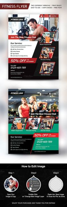 Fitness Flyer  Flyer Template Adobe Photoshop And Adobe