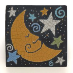 Your place to buy and sell all things handmade Cartoon Sun, Raku Kiln, How To Tie Ribbon, Big Balloons, Fire Art, Plate Stands, Mini Canvas, Tiling, Mosaic Art