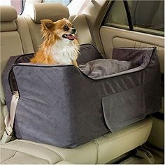 Large Luxury Lookout Dog Car Seat - Saddle/Butter ** More info could be found at the image url.